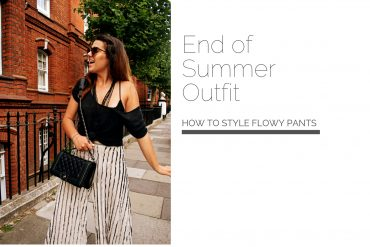 Wearing Striped Pants |End of Summer Outfit