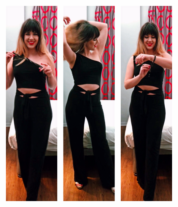 what to wear on valentines day black jumpsuit not a girly gal